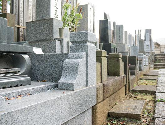 ⑥墓地へ設置